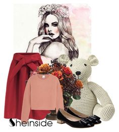 """""""Sheinside III/1"""" by belle-papillon ❤ liked on Polyvore featuring Anne-Claire Petit, Allstate Floral and Iris & Ink"""