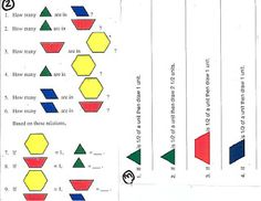 Ramblings of a fifth and sixth grade teacher...: Fractions with Manipulatives-Pattern Blocks