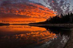 Sunset on Cascade Lake near Tamarack Idaho.