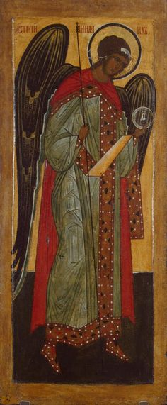 Icon of the Archangel Michael from a Deesis row, Russia, Novgorod, 16th century, Tempera on wood; 88.5 х 37 х 3.5 cm © State Hermitage Museum, St Petersburg