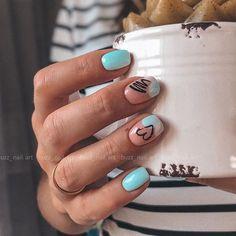 How To Cut Nails, Basic Nails, Cute Nails, Pretty Nails, Camouflage Nails, Multicolored Nails, Gelish Nails, Elegant Nails, Beauty Nails