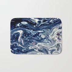 Wild Blueberry Swirl Bath Mat by StoneDreams53 | Society6