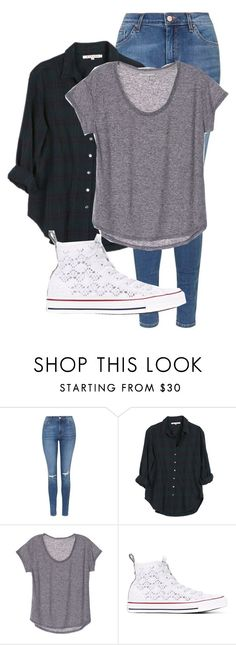 """Untitled #299"" by cuteskyiscute on Polyvore featuring Topshop, Xirena and Converse"