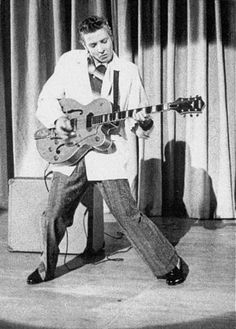 A legend. I bought a Gretsch 6120 Brian Setzer guitar not far from where his car crashed. Quite ironic, as Eddie was a great influence on Brian. Music Makers. Eddie Cochran.