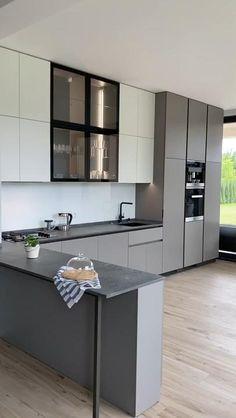 Kitchen Room Design, Kitchen Cabinet Design, Modern Kitchen Design, Interior Design Kitchen, Kitchen Ideas, Kitchen Cabinets Without Handles, Small Modern Kitchens, Latest Kitchen Designs, Kitchen Contemporary