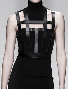 Line and Structure - bold black dress; fashion details // David Koma Fall 2014