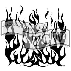 TCW258 Stencil Flames | The Crafter's Workshop Store