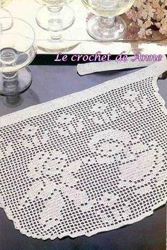Filet kids pattern (apron) with diagram