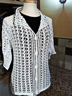 CROCHET Y PUNTO JUDITH: chaqueta hilo algodon