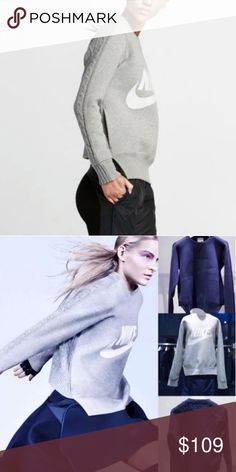 ... popular stores 81e87 69696 Nike x Sacai cable back sweater in grey  great condition. worn ... d4b3613ea005
