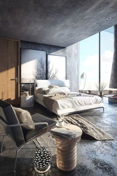 Rustic Bedroom Ideas - All the bedroom design ideas you'll ever require. Find your style and also create your dream bedroom system whatever your budget, design or room dimension. modern 45 Modern Rustic Master Bedroom Decor and Design Idea - Modern Rustic Bedrooms, Rustic Master Bedroom, Modern Bedroom Design, Master Bedroom Design, Home Decor Bedroom, Home Interior Design, Dream Bedroom, Bedroom Ideas, Bedroom Furniture