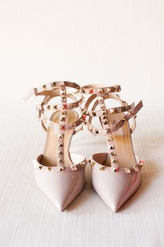Perfect bridal Valentino #shoes | Photography: Twah Dougherty | Style Art Life - www.styleartlife.com  Read More: http://www.stylemepretty.com/2014/05/06/garden-glam-hudson-valley-wedding/