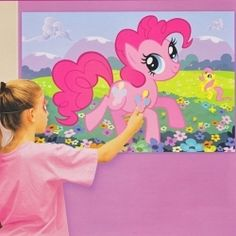 Pin the cutie mark on the pony.