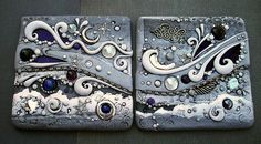 Celestial Tiles Dark Pair by MandarinMoon, via Flickr