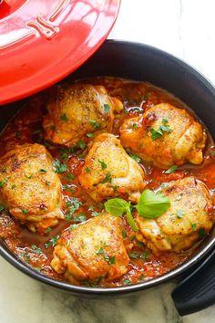 Italian Braised Chicken | Food Recipes