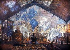 Claude Monet, Gare Saint-Lazare 1877 on ArtStack #claude-monet #art