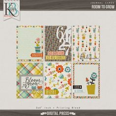 Quality DigiScrap Freebies: Room To Grow journal cards freebie from Kim B Designs