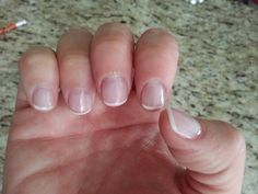 Natural looking, short, acrylic nails. Just like I like it. You can't even tell when they grow out.