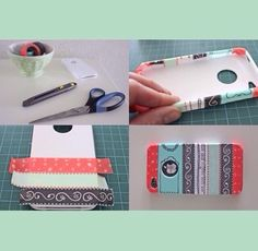 Use decorated colored tape to add a new unique design to your old worn down phone case.