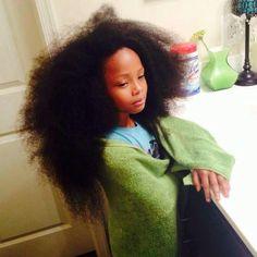 Little queen #blackwomen #naturalhair