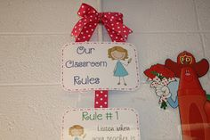 WBT, Classroom rules poster . . . The Polka Dot Patch: Classroom Rules