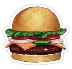 """Krabby Patty"" Stickers by sadgurl00   Redbubble"
