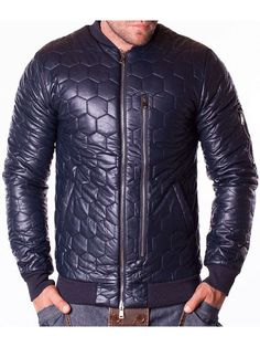 Geaca din piele barbati Berry albastru inchis Winter Jackets, Leather Jacket, Interior Design, Fashion, Winter Coats, Studded Leather Jacket, Nest Design, Moda, Leather Jackets