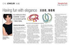 Rosso Prezioso su Shanghai Daily del 19 aprile 2013