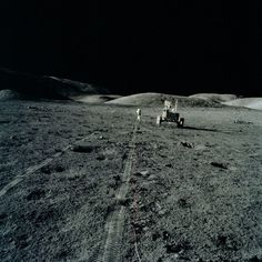Apollo 17 | Rover tracks during EVA for Cernan & Schmitt
