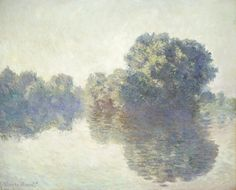 The Seine at Giverny. Oil Paint by Claude Monet.
