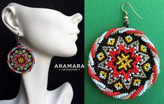 Star Earrings Mexican earrings Round earring Huichol