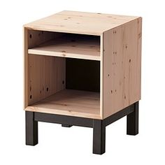 IKEA - NORNÄS, Nightstand, , Customize the space with the adjustable shelf.Made of solid wood, which is a durable and warm natural material.Optimise your storage with BRANÄS or DRÖNA boxes.