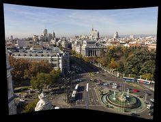 Panorámica desde la terraza del Ayuntamiento, Plaza de Cibeles - Madrid.  Panoramic view from the balcony of City Hall, Plaza de Cibeles - Madrid    www.vicentemendez.com