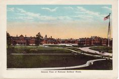 From Souvenir Folder of Danville General View of National Soldiers' Home