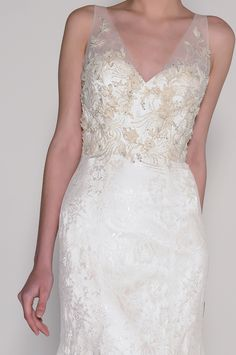 Louisa 4006  Lace V neck Wedding Dress Eugenia Couture 2016 Collection