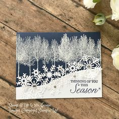 Stampin Up Winter Woods Thinking Of You Stamp It With Jaimie Barbara Hofemeister Big Shot