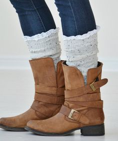 Look at this Oatmeal Felicity Knee-High Socks on #zulily today!
