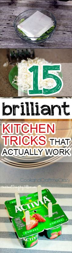15 Brilliant Kitchen Tricks That Actually Work Kitchen, cleaning kitchen, kitchen cleaning hacks, ki Kitchen Hacks, Kitchen Gadgets, Kitchen Cleaning, Kitchen Redo, Kitchen Stuff, Kitchen Helper, Tips & Tricks, Baking Tips, Things To Know