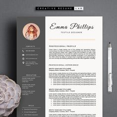 Synnove Resume Template Resume Template Brings Together The
