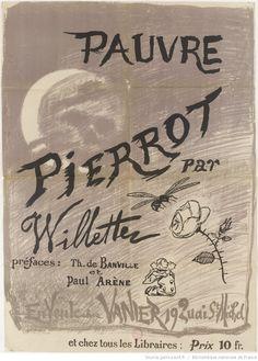 Pauvre Pierrot / A. Willette, 20 reproductions héliographiques ; [préfaces, Th. de Banville et Paul Arène], 1884