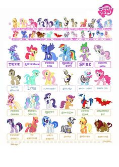my little pony free printable template | Who Is Who? My little Pony Template by NekoKawaii11