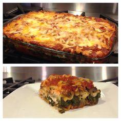 Jillian Michael's Low Fat Vegetable Lasagna (Gluten Free)