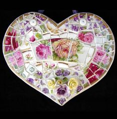 Mosaic Heart artist Laurel True San Francisco on Flickr – ms.donnalee blown glass mosaic heart Buenos Aires on Flickr – jenatknox Broken Rose China Mosaic Heart on Flickr – ohfaro…