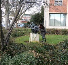 Father, Son, Bird by Hans Bayens, Zeven Alleetjes Zwolle, Netherlands. March 13th, 2013