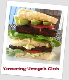 Towering Tempeh Club | Running With Tongs