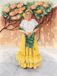 La Sra. Esperanza. Watercolour.