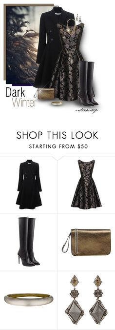 """Dark Winter"" by stardustnf ❤ liked on Polyvore featuring Trilogy, Givenchy, Chi Chi, Ralph Lauren Collection, Rochas, Alexis Bittar, Sevan Biçakçi, Topshop, ralphlauren and clutchcrush"