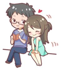 Lighten up your day with the sweetest couple, JHA and her beloved boyfriend. Good Morning Cartoon, Chibi Couple, Love Stickers, Cheer You Up, Love Tips, Sweet Couple, Cute Love, Anime Art, Couples