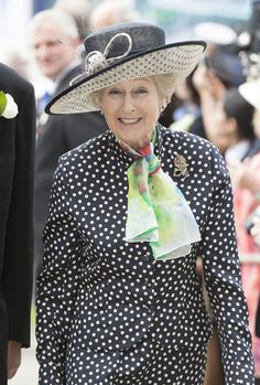 The Queen's cousin, Princess Alexandra, at today's Epsom Derby Jubilee Celebration.