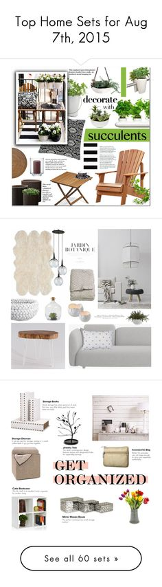 """""""Top Home Sets for Aug 7th, 2015"""" by polyvore ❤ liked on Polyvore featuring interior, interiors, interior design, home, home decor, interior decorating, Potting Shed Creations, Dot & Bo, Threshold and rephorm"""